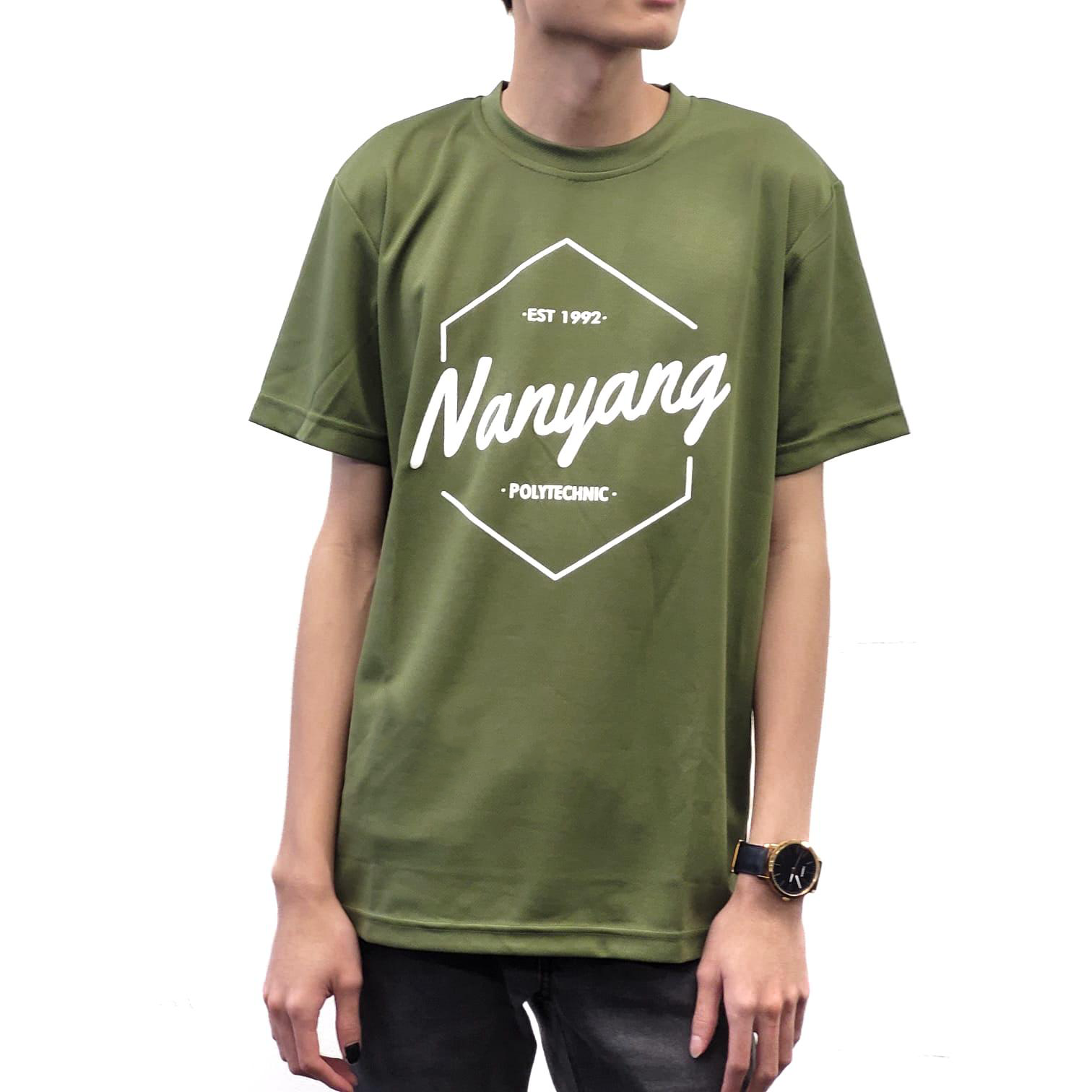 NYP HEX DRI FIT TEE ARMY GREEN