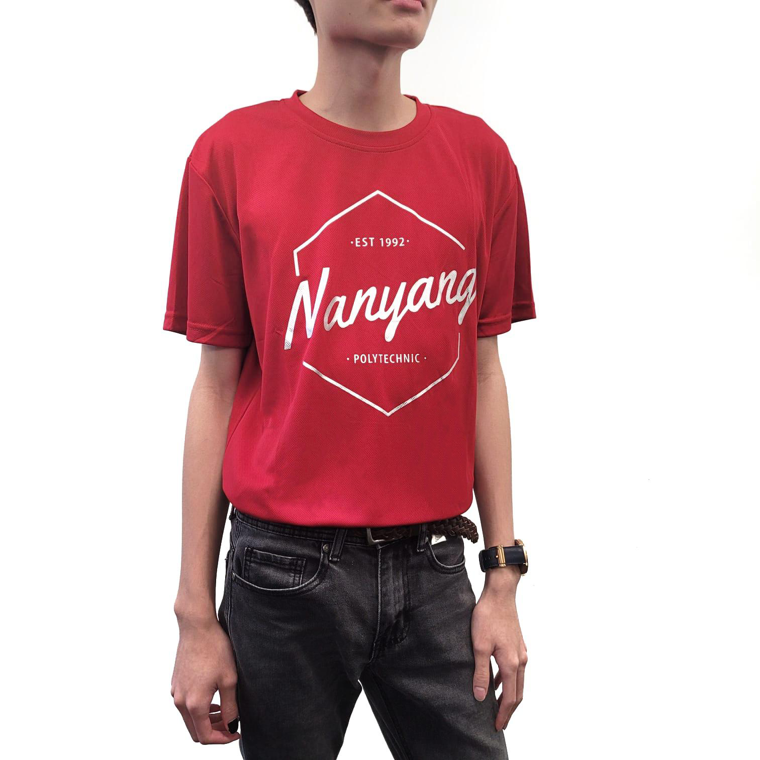 NYP HEX DRI FIT TEE ARMY MAROON-RED