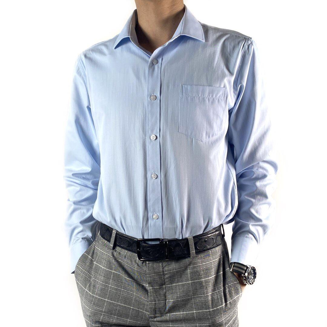 Twill Finishing formal blouse (Light blue)