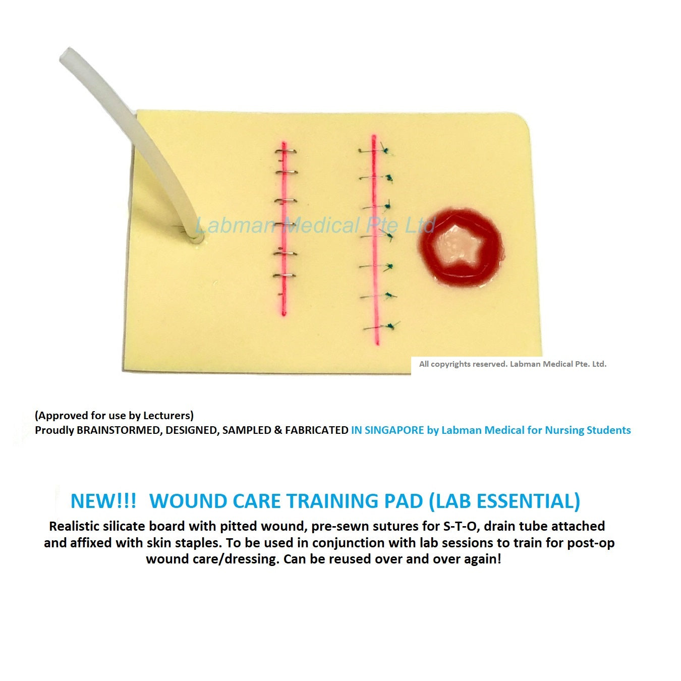 Labman Wound Care Training Pad