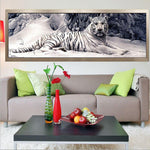 Premium White Tiger Painting