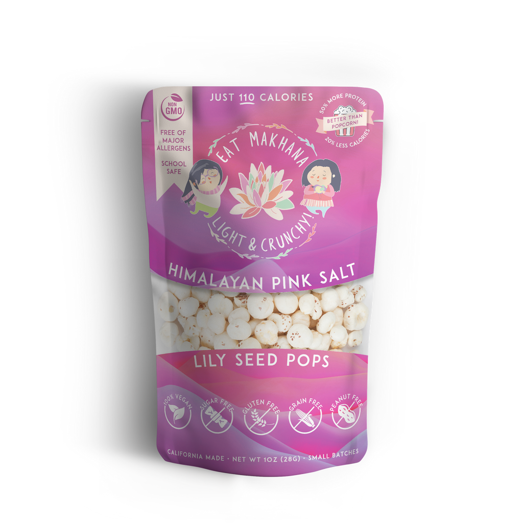 Himalayan Pink Salt Lily Seed Pops • 4 pack • Large • 110 calories - Eat Makhana