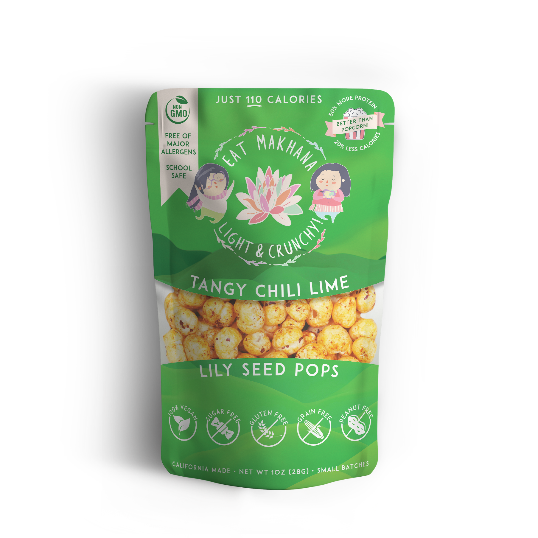 Chili Lime Lily Seed Pops • 4 Large - Eat Makhana