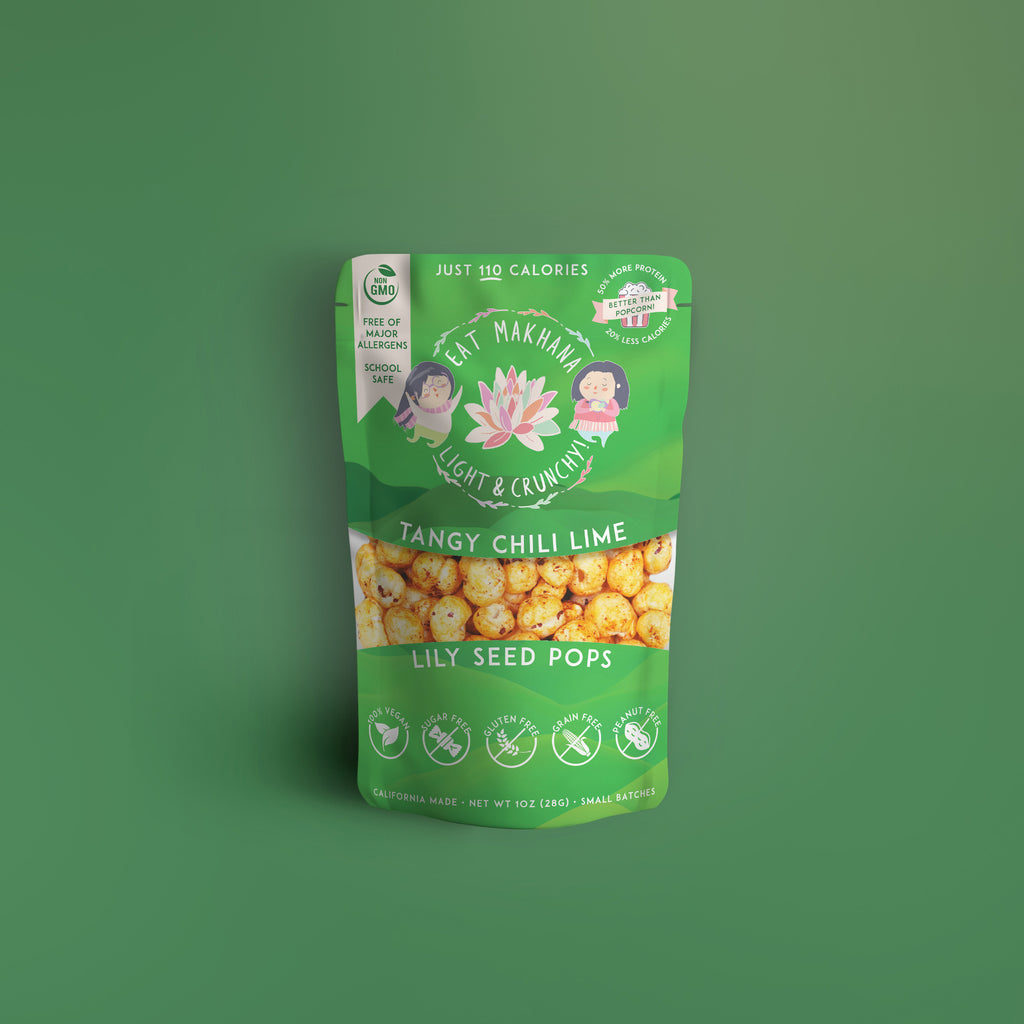 Chili Lime Lily Seed Pops • 4 pack • Large • 110 calories - Eat Makhana