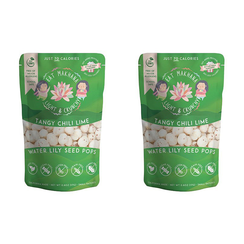 Tangy Chili Lime Lily Seed Pops • 2 pack • Medium • 70 calories - Eat Makhana