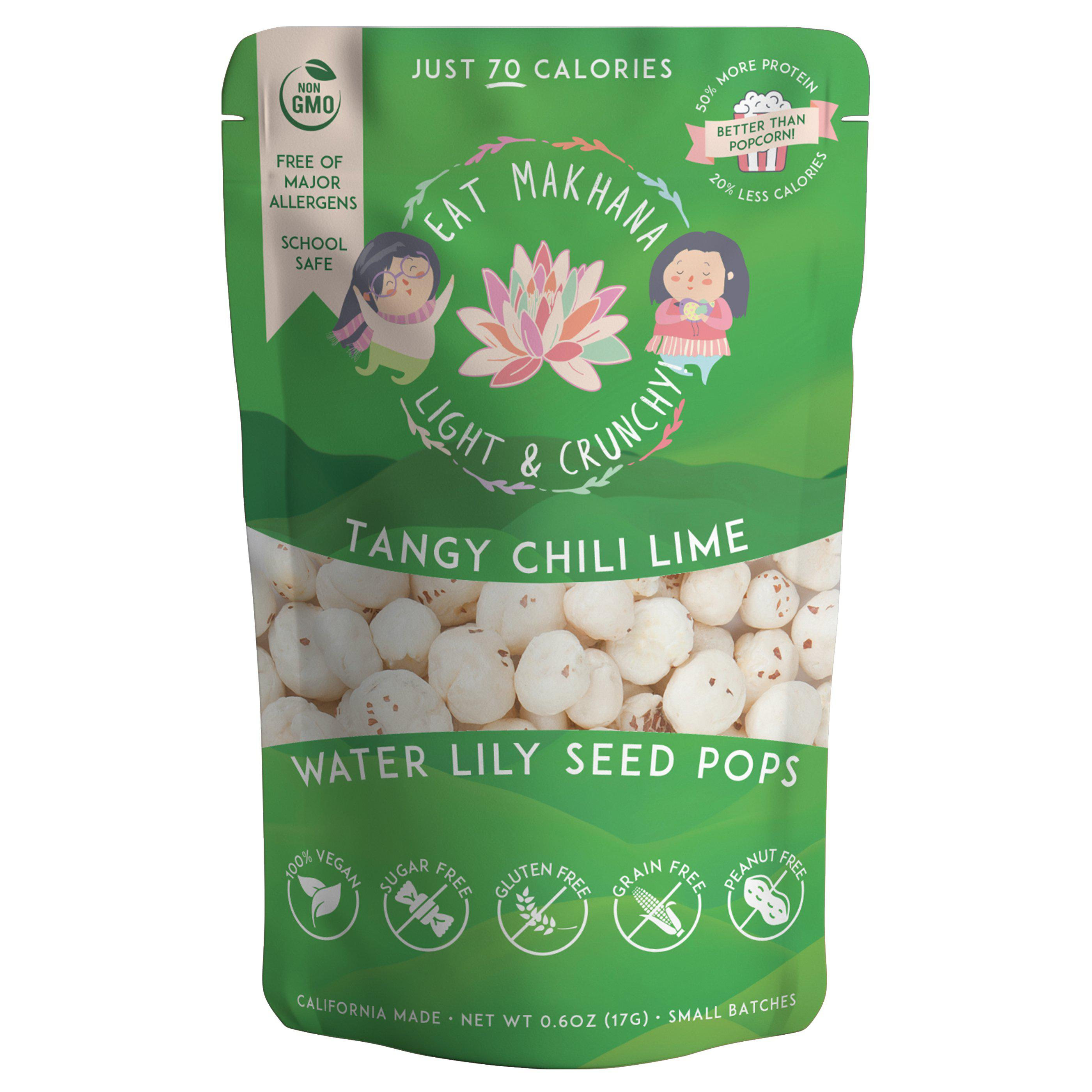 Spicy Variety Pack Lily Seed Pops • 6 pack • Medium • 70 calories - Eat Makhana