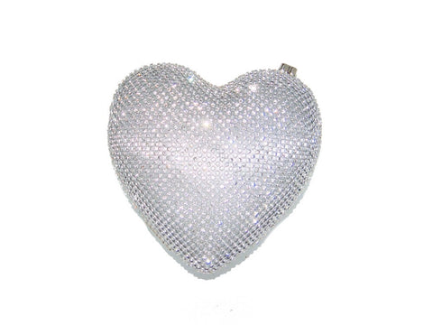 Heart of Glass Purse-Silver