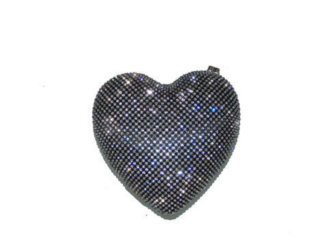 Heart of Glass Purse-Black