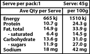 Vanilla Protein Bar Nutritional Information