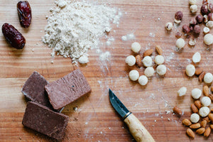 Chocolate Protein Bar and Ingredients