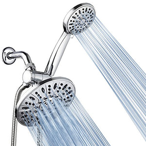 "7"" Premium High Pressure 3-way Rainfall Shower Head Combo for the Best of Both Worlds"