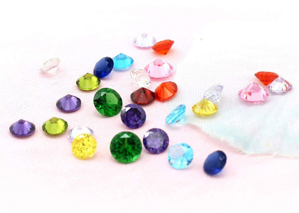 Beffy 96Pcs 5mm Crystal Birthstones for Floating Charms Living Memory Lockets Diy Pendant Necklace