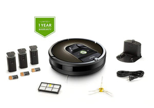 iRobot Roomba 980 Robotic Vacuum Cleaner with Wi-Fi Connectivity + Extra Side brush and Extra Filter Bundle