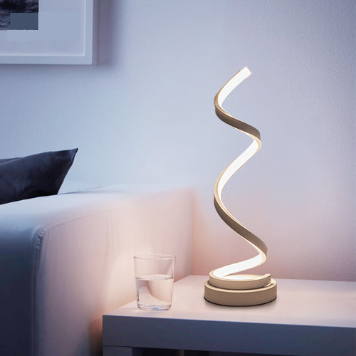 Modern Spiral LED Table Lamp For Bedroom & Living Room