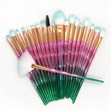 Best Diamond Eyeshadow & Makeup Brushes Sets 20 pcs