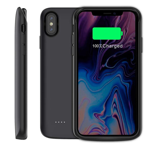 6000mAh Battery Case Charging Power Bank Backup Pack Cover For iPhone XS Max/XR