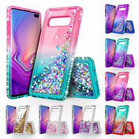 Samsung Galaxy S10/S10e/S10 Plus/Note 9/8/S9/S8 Liquid Glitter Bling Case Cover