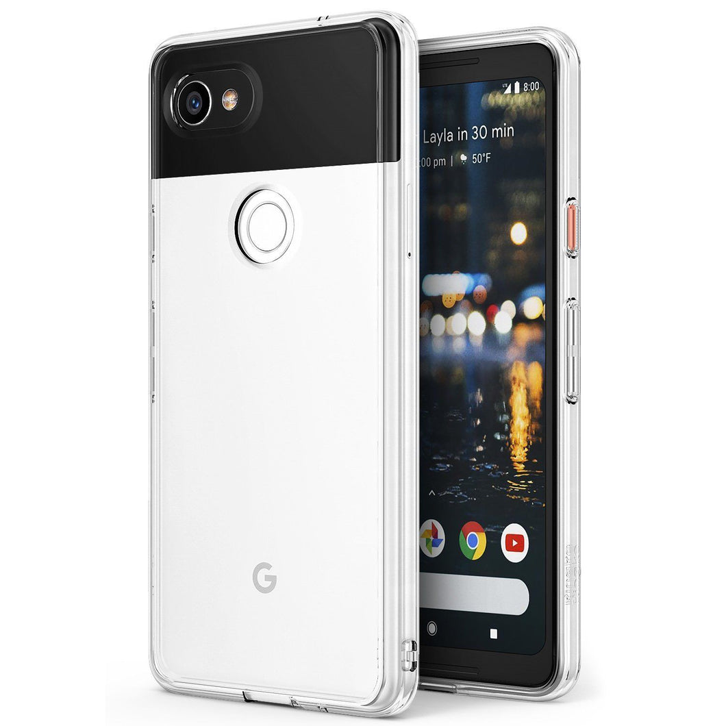 For Google Pixel 2 XL Clear PC Shockproof TPU Bumper Cover Case