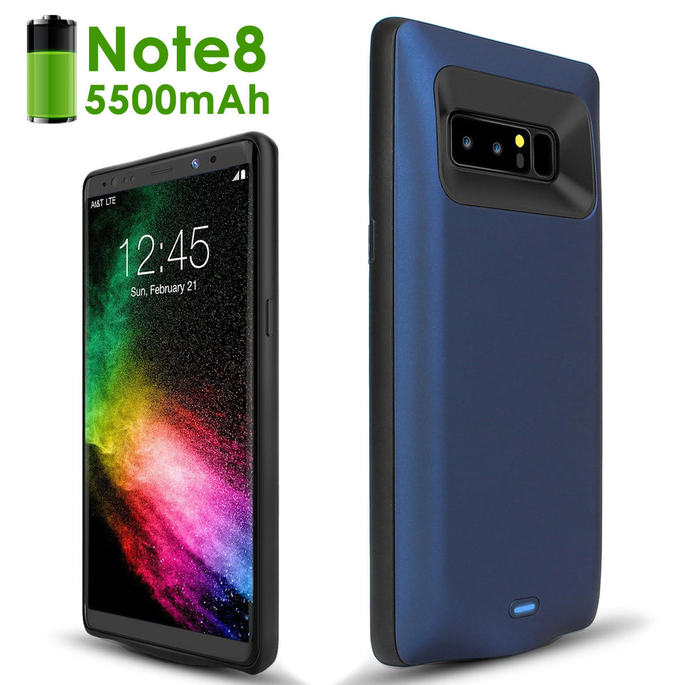 Samsung Galaxy Note 8 Note 5 S8 S8 Plus S7 Edge S7 S6 Edge S6 Edge Plus Ultra-Slim 5500mAh External Battery Power Charging Case