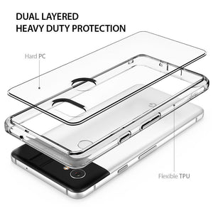 For Google Pixel 2 XL Ringke® [FUSION] Clear PC Shockproof TPU Bumper Cover Case