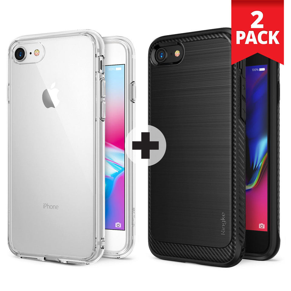 For iPhone 8 / 8 Plus | Ringke [FUSION] PC Back Shockproof Protective Cover Case