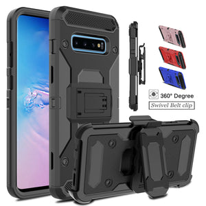 Samsung Galaxy S10 Plus/Note 9/8/S8/S9 Cover Case With Kickstand + Belt Clip