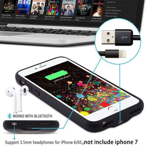 Portable Charger Case External Battery Rechargeable Backup for iPhone X Xs