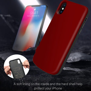 For iPhone X Xs New 6000mAh Wireless Magnetic Charging Backup Battery Case Cover