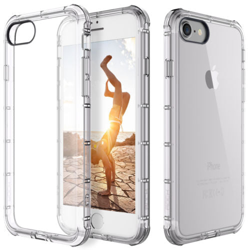 For Apple iPhone 7/8 Case Clear Hybrid Slim Shockproof Soft TPU Bumper Cover