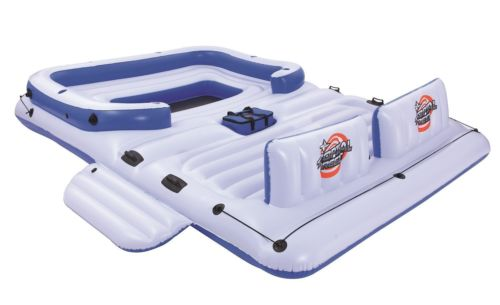 Bestway CoolerZ Tropical Breeze 6 Person Floating Island Pool Lake Raft Lounge