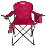 2-Pack Coleman Cooler Quad Chairs With Built-In Cooler, Red | 2 x 2000020264