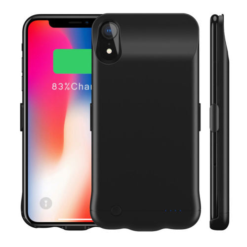 External Battery Backup Charging Case Pack Power Bank Cover for iPhone Xs Max Xr