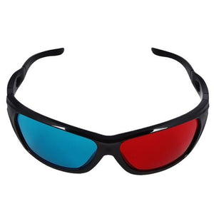 1 Pair Black Frame Red Blue 3D Glasses For Dimensional Anaglyph Movie Game DVD