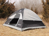 Tahoe Gear Powell 3-Person 3-Season Dome Camping Tent, Black/Grey | TGT-POWELL-3