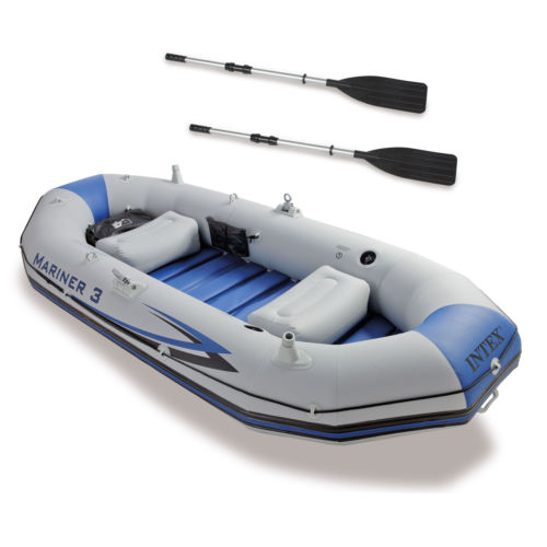 Intex Mariner 3-Person Inflatable River/Lake Dinghy Boat & Oars Set | 68373EP