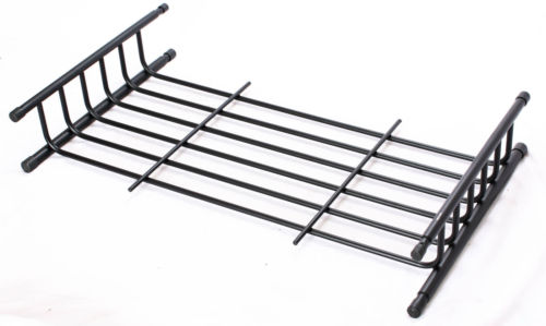 "64"" Universal Black Roof Rack Cargo Carrier w/ Extension Luggage Hold Basket SUV"