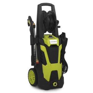 Electric Pressure Washer w/Hose Reel Kit and 5 Quick-Connect spray tips, 3000PSI