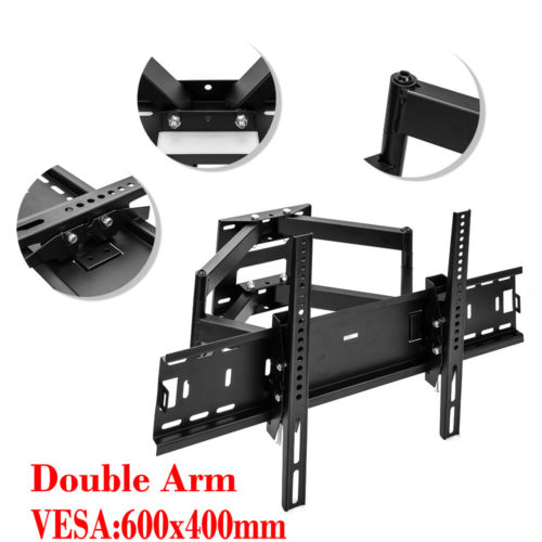 Articulating Tilt Swivel Dual Arm LCD LED TV Wall Mount 32 37 42 50 56 60 65 70