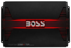 New Boss Audio PF2200 2200W 4 Channel Car Audio Amplifier Power LED Amp+Remote