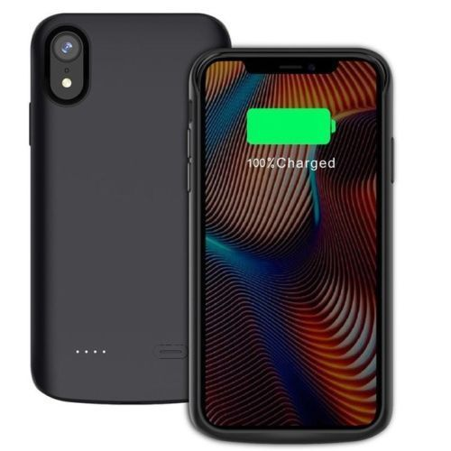 iPhone XS Max/XR 6000mAh Battery Case Charging Power Bank Backup Pack Cover