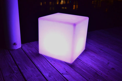 "Main Access 16"" Pool Spa Waterproof Color-Changing LED Light Cube Seat"