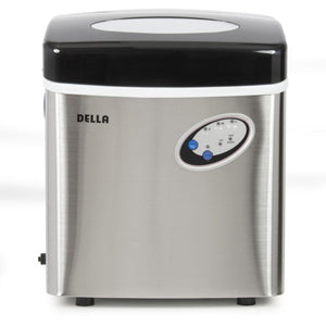 NEW Portable Electric Ice Maker Stainless Steel Countertop up to 48lbs Top Black