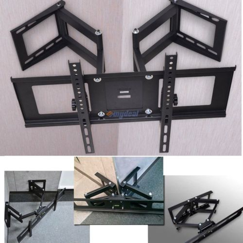Corner Full Motion TV Wall Mount Tilt Swivel For 27 32 37 42 46 47 50 65 70