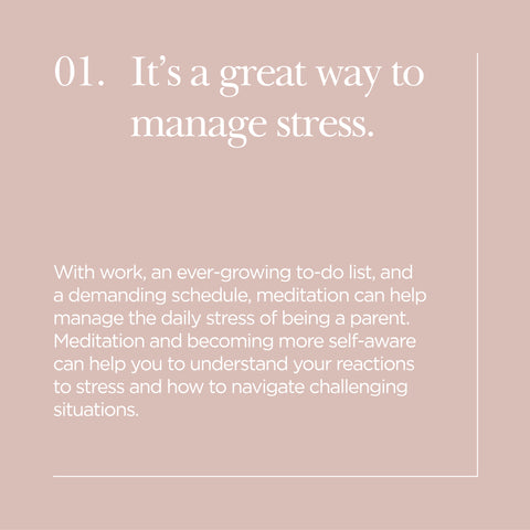 It's great to manage stress
