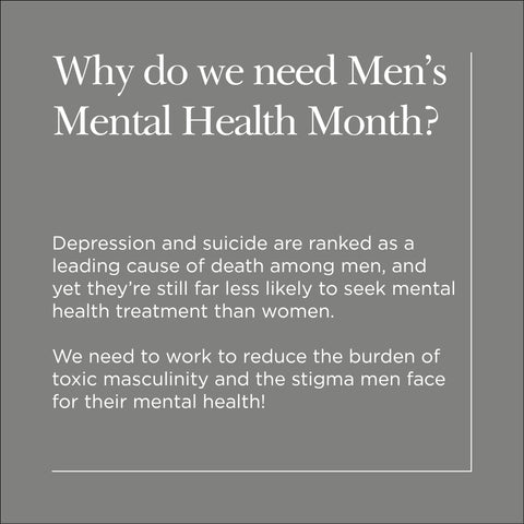 Why do we need Men's Mental Health Month