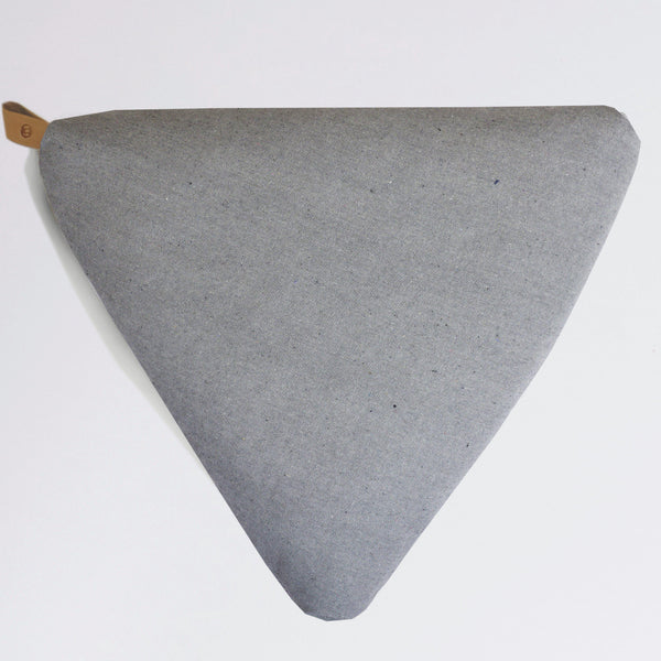 Ash Grey meditation floor cushion-project full