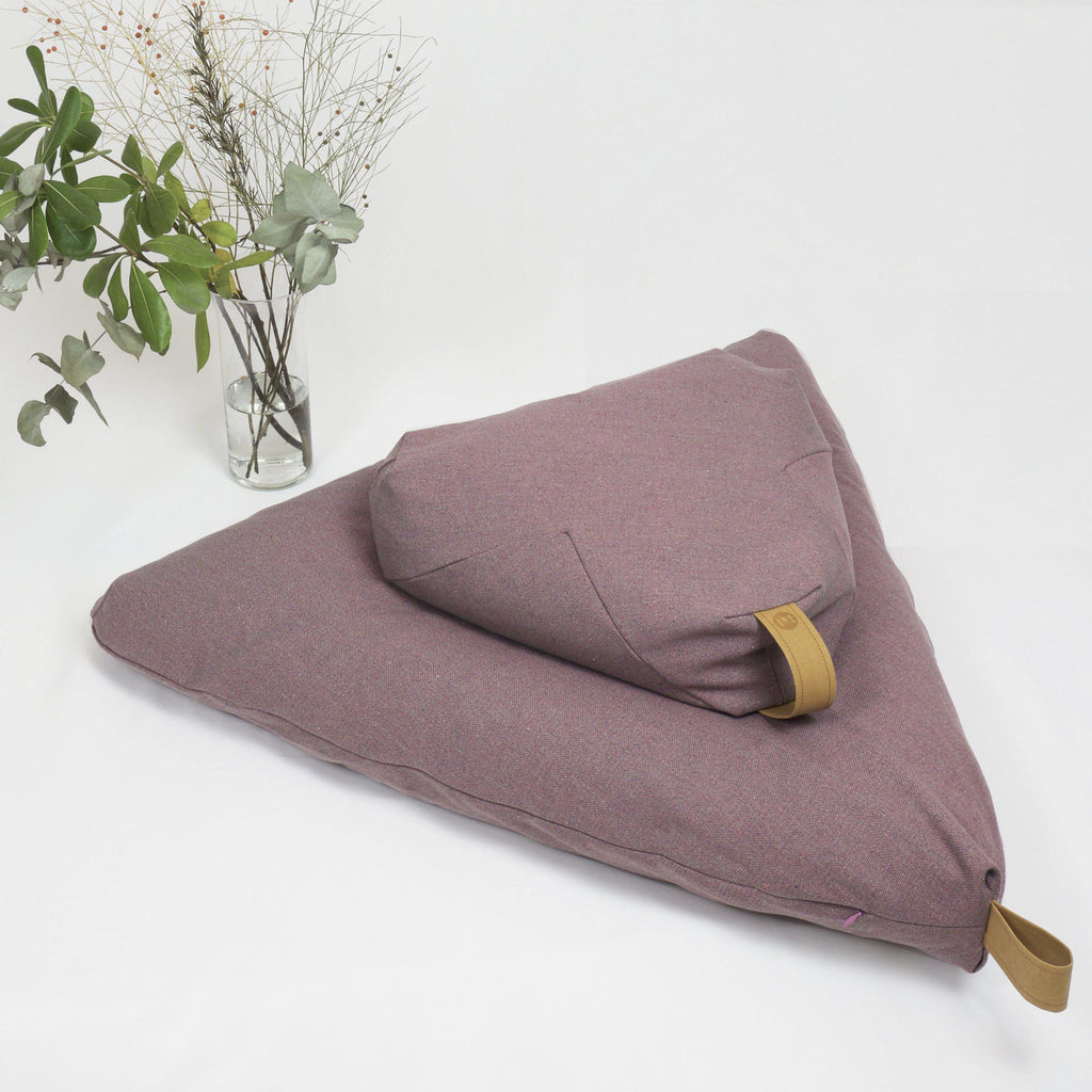 Ash Rose meditation cushion set-project full