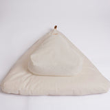 Natural canvas meditation cushion set