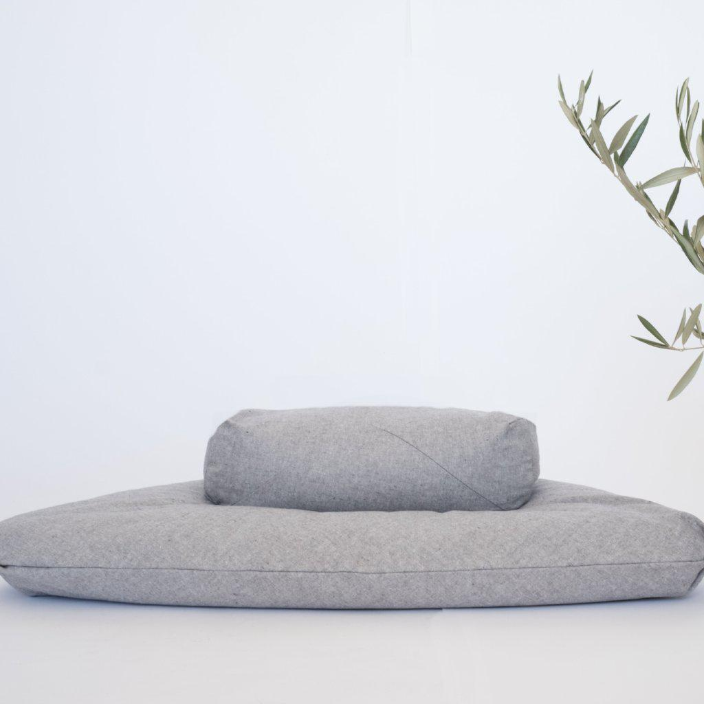 Slate Grey meditation cushion set-project full
