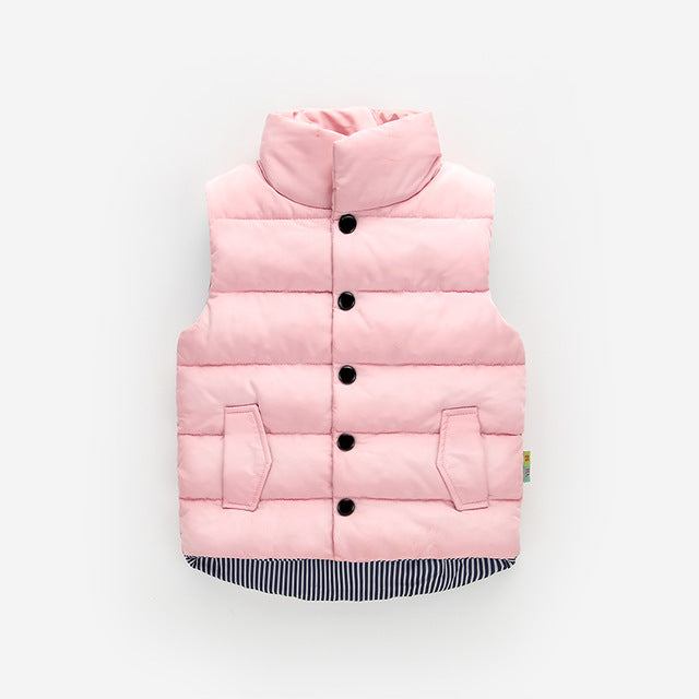 Puffer Vest - Pink